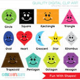 Clipart - Fun with Shapes, Back to School