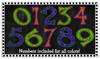 Clipart - Funky Halloween Glitter Letters