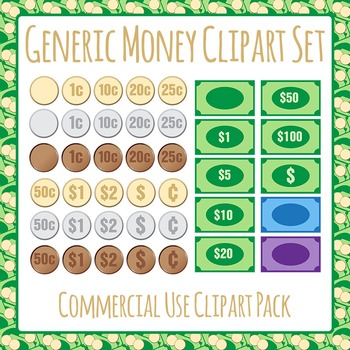 Money - Generic Clip Art Pack for Commercial Use