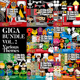 Clipart Giga Bundle Vol. 2 by DarraKadisha - Various Themes