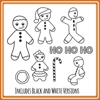 Gingerbread Man Clipart - Commercial Use Clip Art Pack
