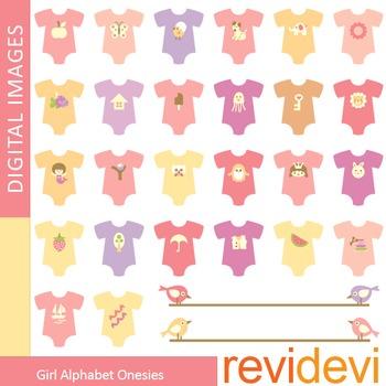 Clipart Girl Alphabet Onesies