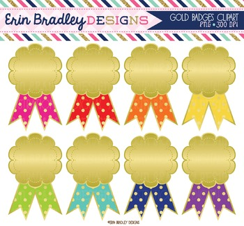 Clipart - Gold Badges / Awards Graphics
