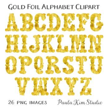 Clipart - Gold Foil Alphabet