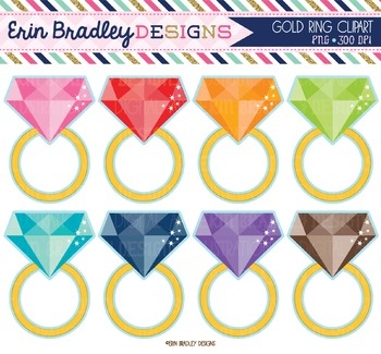 Clipart - Gold Rings