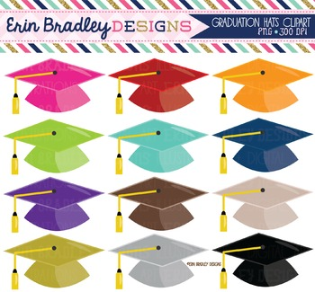 Clipart - Graduation Hats