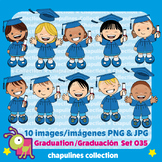 Clipart Graduation Kids, Graduación, blue cap and gown, to