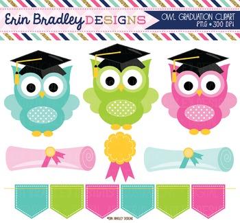 Clipart - Graduation Owls