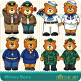 Clipart Graphics Military Bears
