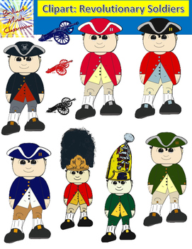 Revolutionary War Soldiers Clipart Graphics