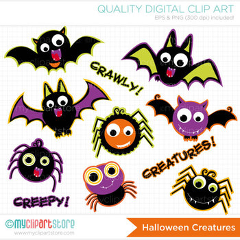 Clipart - Halloween Creatures
