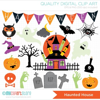 Clipart - Halloween / Haunted House