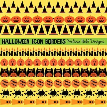 Clipart: Halloween Icon Border Patterns