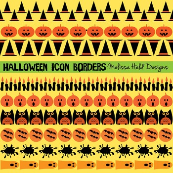 Halloween Icon Border Patterns Clipart