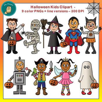 Clip Art PNGs - Halloween Kids