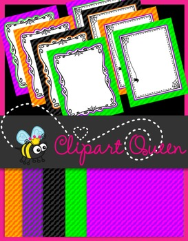 Halloween Clipart: Papers and Borders