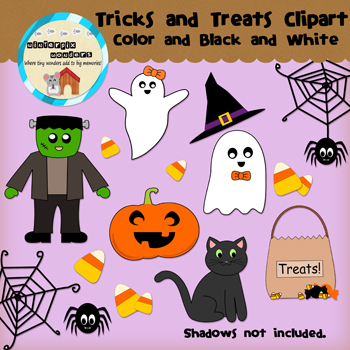 Clipart: Halloween - Tricks and Treats