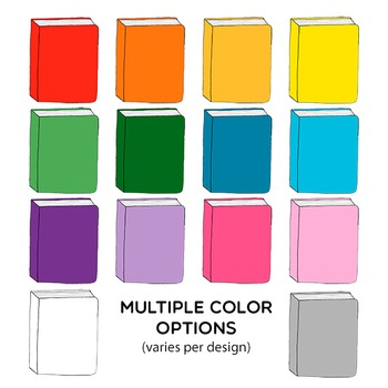Clipart: Hand Drawn Books Set for Personal and Commercial Use