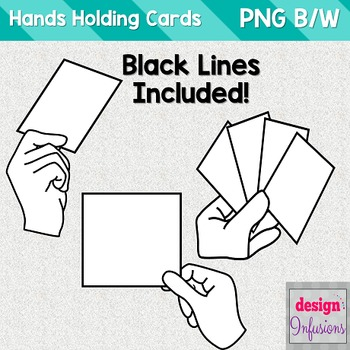 Clipart: Hand holding a sign/card