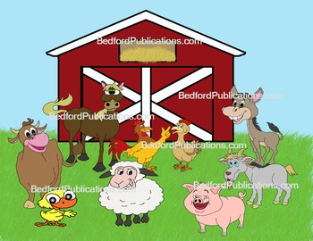 Clipart: Happy Farm Animals