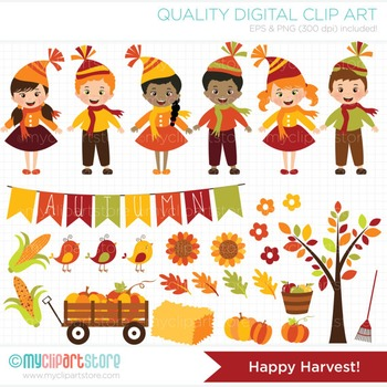 Clipart - Happy Harvest (Autumn / Fall)