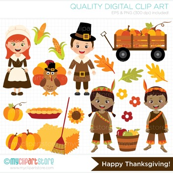 Clipart - Happy Thanksgiving (Autumn / Fall)