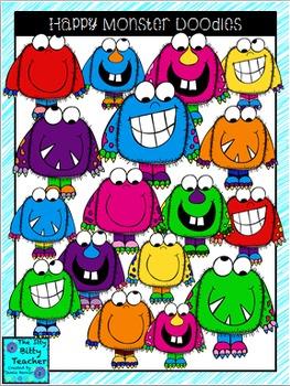 Clipart - Happy Monster Doodles