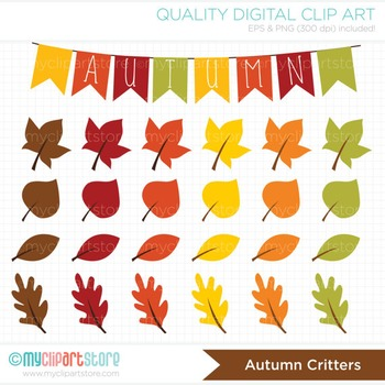 Clipart - Fall / Autumn Critters / Thanksgiving (woodlands / forest animals)