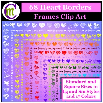 Heart Borders and Frames Clip Art