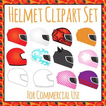 Helmet Clip Art Set for Commercial Use