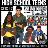 Clipart - High School Teens Writing BUNDLE (Sets 1 and 2)