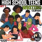 Clipart - High School Teens WRITING (Set 2)