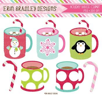 Clipart - Holiday Mugs & Snowmen
