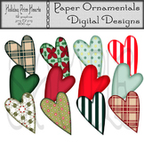 Clipart or Clip Art:  Holiday Prim Hearts