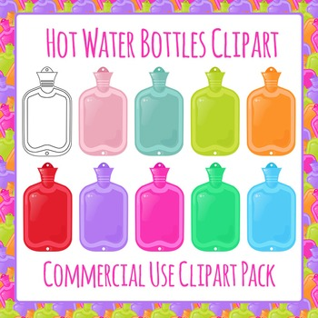 Hot Water Bottles Clip Art Pack for Commercial Use