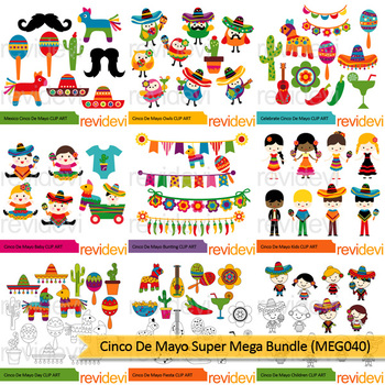 May july 2. Clipart huge bundle april