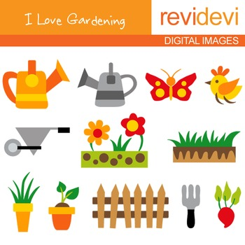 Clipart I Love Gardening