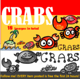 Clipart, Images, Illustrations, Crabs, Island, Beach, Crab