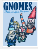 Clipart, Images, Illustrations, Gnomes, Fairy Tale, Note h