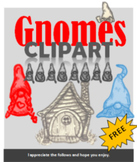 Clipart, Images, Illustrations, Gnomes, Fairy Tale, hand-d