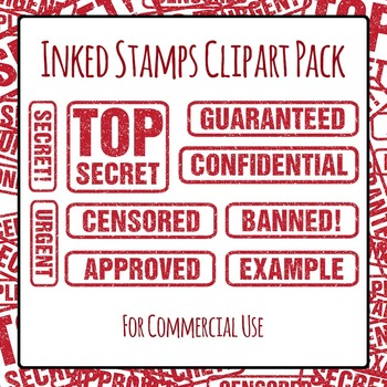 Stamped Words - Confidential, Top Secret, Urgent ETC. Commercial Use