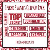 Stamped Words - Confidential, Top Secret, Urgent ETC. Commercial Use