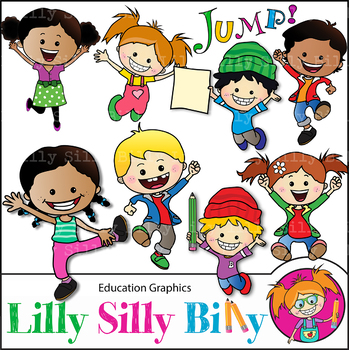 Clipart JUMP. YAY for Learning! {Lilly Silly Billy}