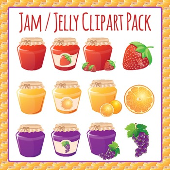 Jelly / Jam Jar Clip Art Pack for Commercial Use