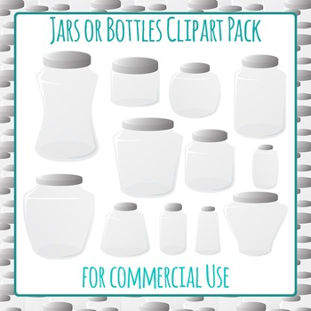 Jars or Bottles Collection Clip Art Pack For Commercial Use