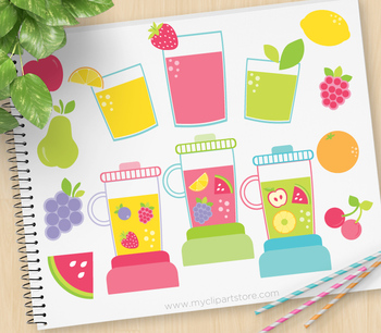 Clipart - Juicy Fruit / Fruit Smoothies