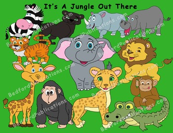 Clipart: Jungle Animals
