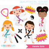 Clipart - Karate Girls (Tae Kwon Do) / Sport