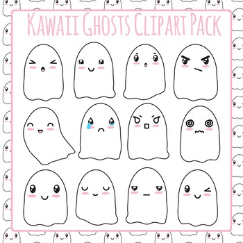 Ghosts Clip Art Pack for Commercial Use