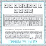 Keyboard Keys Clip Art Pack for Commercial Use